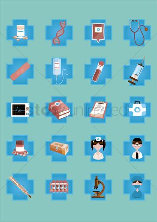 Surgeons : A set of medical icons