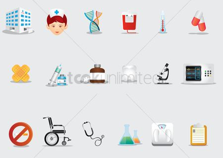 Health : A set of medical icons