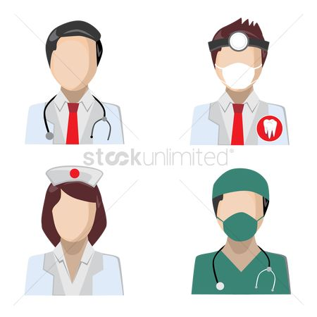 Dentist : A set of medical profession avatars