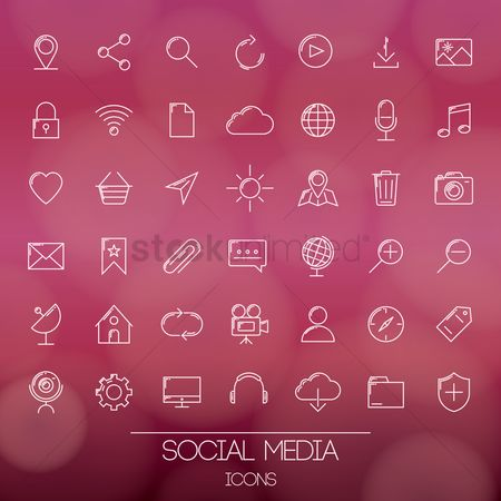 Favourites : A set of social media icons