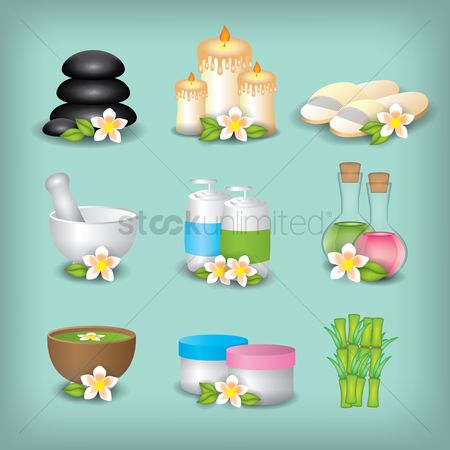 Health : A set of spa collection
