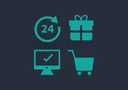 Store : A set of supermarket icons