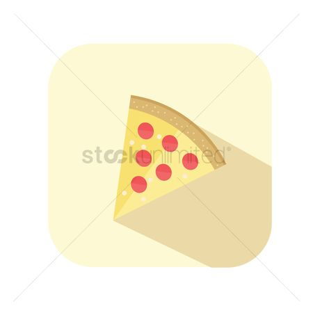 Snack : A slice of pizza
