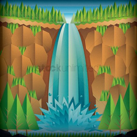 Waterfalls : A waterfall with paper effect
