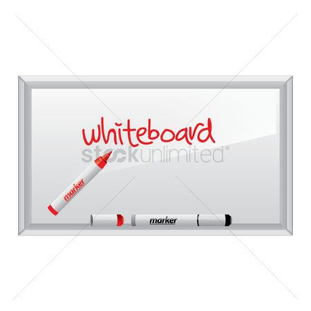 Whiteboard : A whiteboard with the word whiteboard