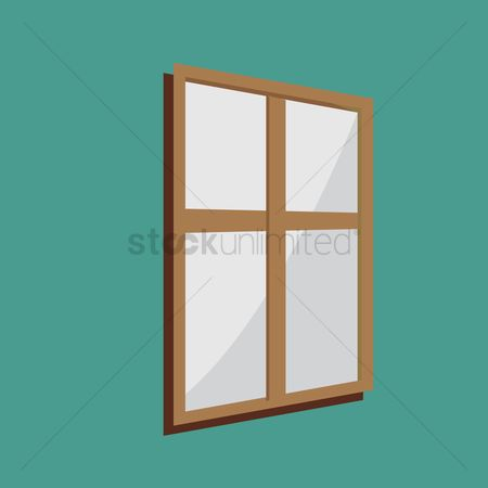 Interior background : A window on green background