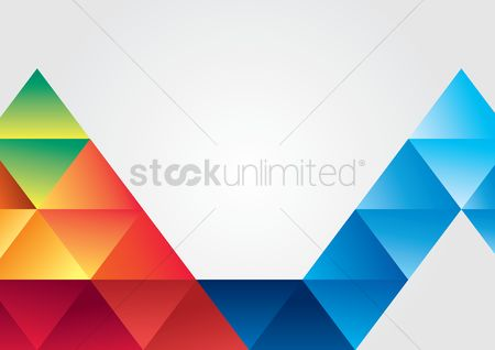 Graphic : Abstract background consisting of triangles