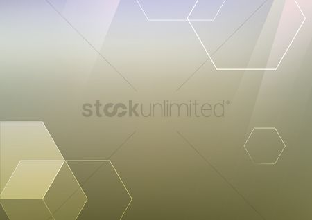 Styles : Abstract background with hexagons