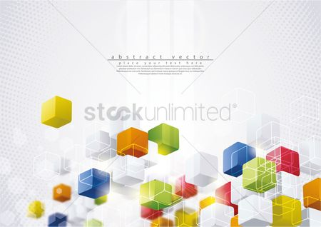 Boxes : Abstract background
