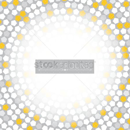 Pentagons : Abstract background