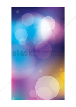 Graphic : Abstract bokeh wallpaper
