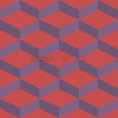 Zig zag : Abstract cubes background