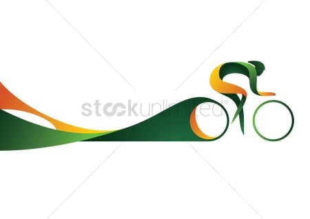 Race : Abstract design of a track cylist