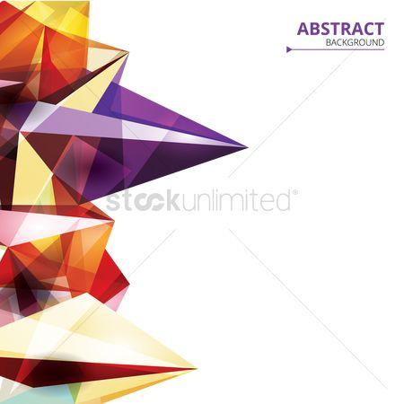 Gradient : Abstract faceted background