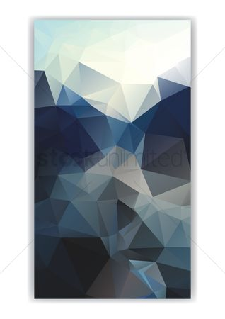 Geometrics : Abstract faceted wallpaper