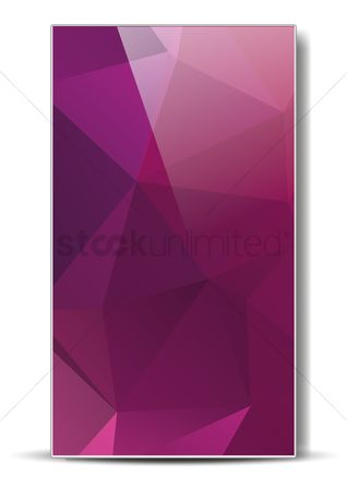 Styles : Abstract faceted wallpaper