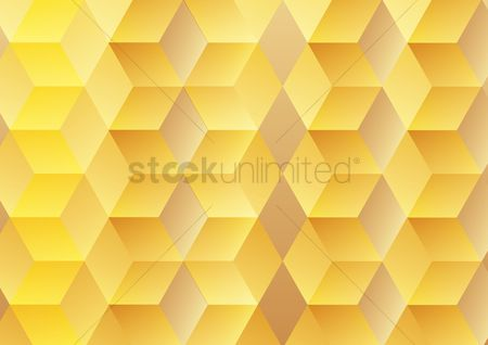 Brick : Abstract geometric background with yellow cubes