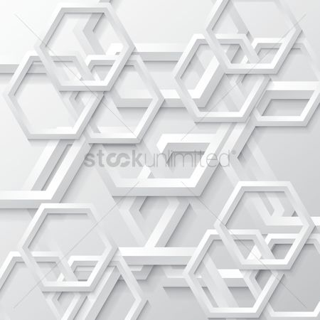 Geometric : Abstract hexagon background