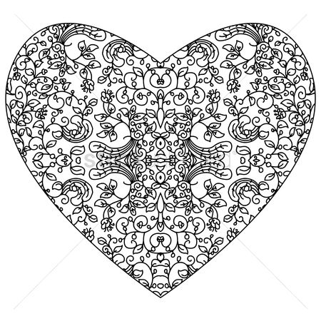 Linear : Abstract intricate heart design