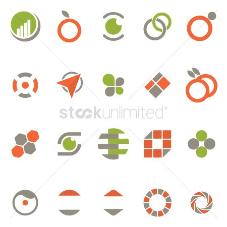 Map pin : Abstract logo icons