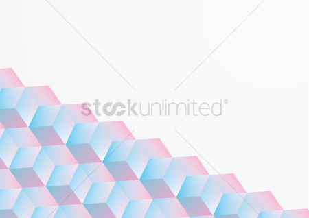 Backdrops : Abstract with cube decoration