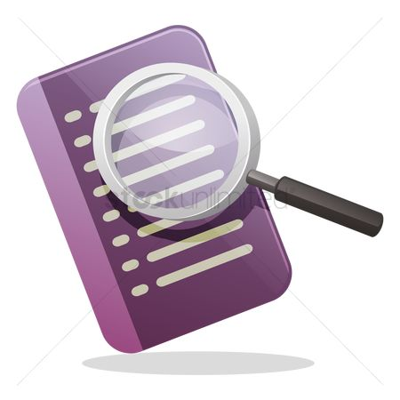 Address : Address book and magnifying glass