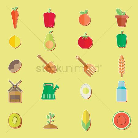 Apricot : Agriculture set