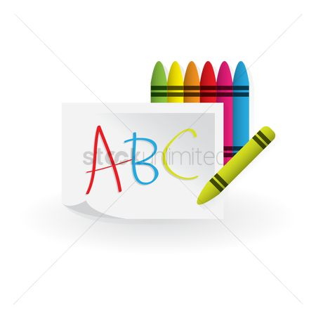Crayons : Alphabets written with crayons