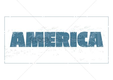 Torch : America text and statue of liberty with double exposure effect