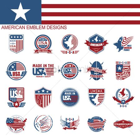 Shield : American emblem designs collection