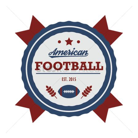 Soccer : American football badge