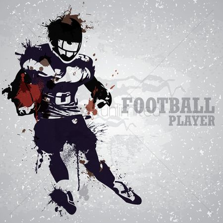 Footballs : American football player poster design