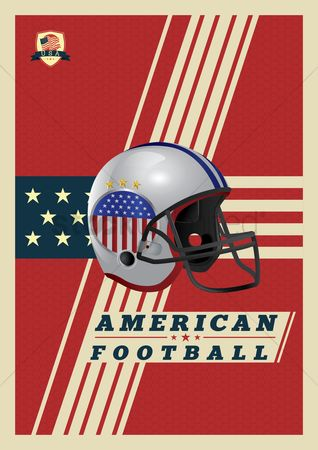 American football : American football poster design