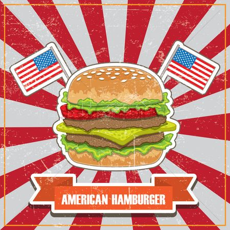 Junk food : American hamburger