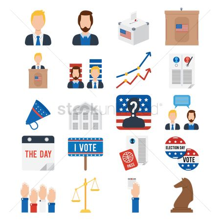 White house : American presidential election icons