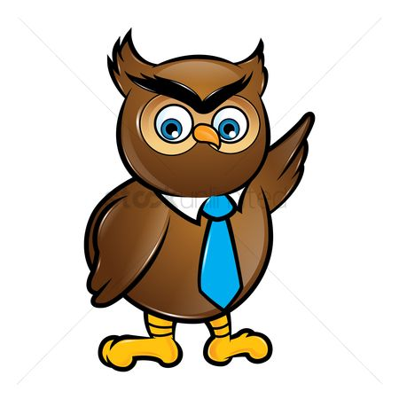 Ties : An owl with a tie
