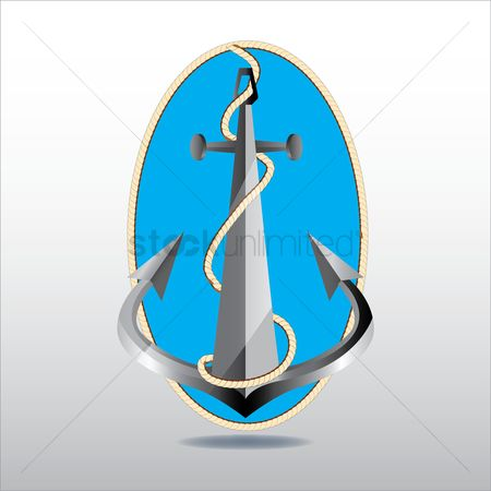 Nautical : Anchor with rope