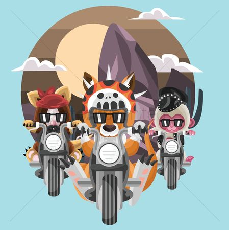 Claws : Animals bike riding