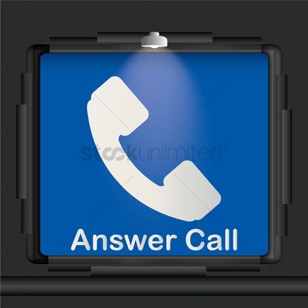 Pick up : Answer call advertisement board