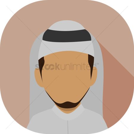 Headdress : Arab man avatar