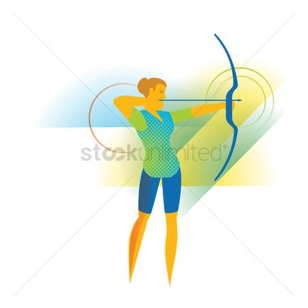 Archeries : Archer with a bow and arrow