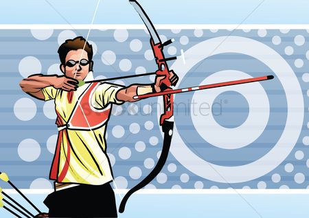 Athletes : Archery athlete in action