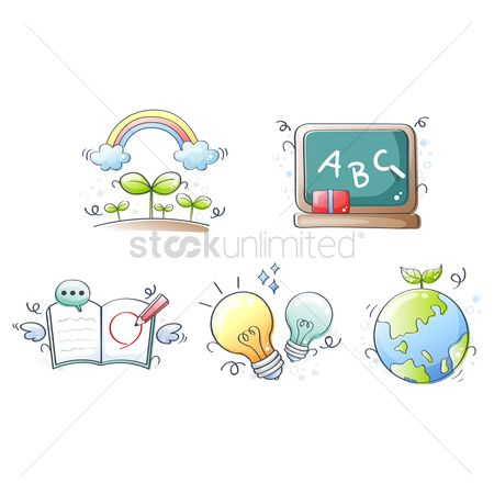 Blackboard : Assorted icons