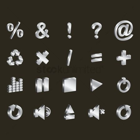 Plus : Assorted interface icons