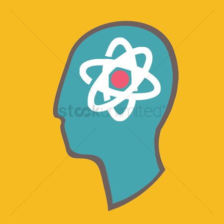 Particles : Atom structure in head