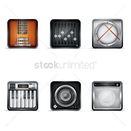 Drums : Audio theme icons