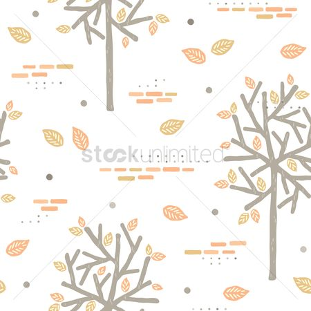 Falling : Autumn leaves background design