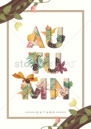 Cones : Autumn text design