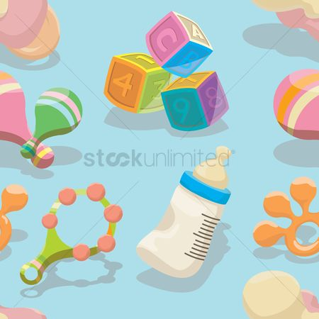 Blocks : Baby accessories background