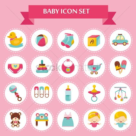 Teddybear : Baby icon set
